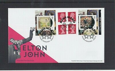 GB 2019 Elton John Retail SB cyl W1 RM FDC First Day Cover Pinner glasses sp pmk