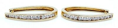 BEAUTIFUL Pair of Solid 14k Yellow Gold / 1.00 CT TWT Diamonds Ladies Earrings