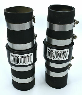 """Lot of 2x Campbell AWSC 150SBBLK 1.5"""" ABS Plastic Check Valve"""