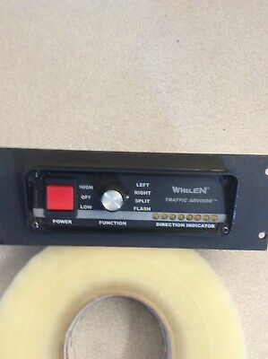 Whelen Traffic Advisor Control Panel TactRL1A P/N 01-0682340-00 With Face Mount