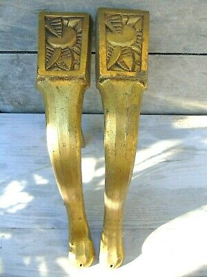 Brackets Vintage French Antique Metal Gilt Bronze Ormolu X2 Sublime Art Deco Era