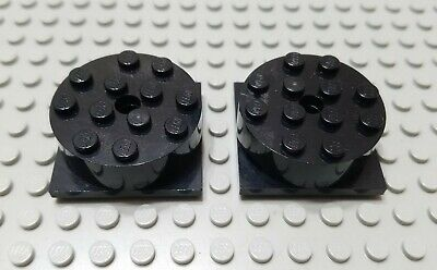 Seat 6382 Vintage Lego Grey /& Blue Turntable 2x2 Plate For Wheels