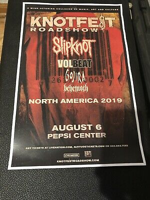 Slipknot Volbeat Gojira Hehemoth Knotfest Denver Co Tour Poster 11x17