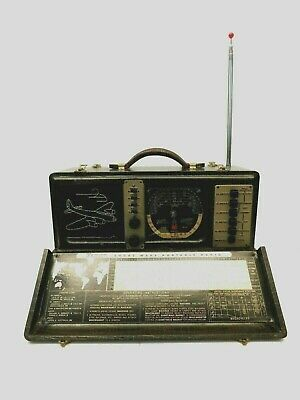 VINTAGE 1940s ZENITH BOMBER TRANSOCEANIC WORLD WAR 2 ANTIQUE TUBE RADIO & WORKS