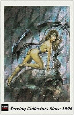 1996 Comic Images Fantasy Art Trading Card Boris With Julie Megachrome Card M5