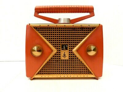 VINTAGE OLD 1950s EARLY EMERSON TRANSISTOR RADIO + NO CRACKS INTERIOR PIX