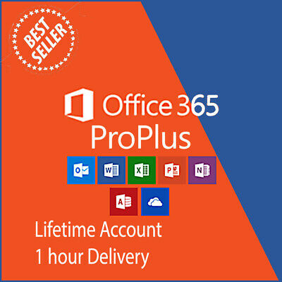 Microsoft Office 365 Lifetime 5x Devices, 5TB OneDrive Windows Mac IOS Android