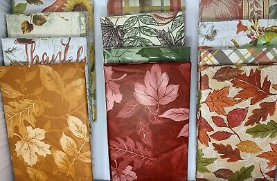 Autumn Vinyl Flannel Backed Tablecloth