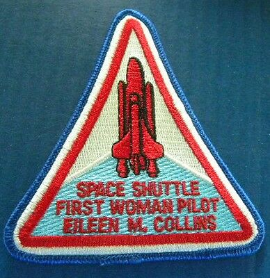 Space Shuttle First Woman Pilot / Eileen Collins embroidered  patch  NASA