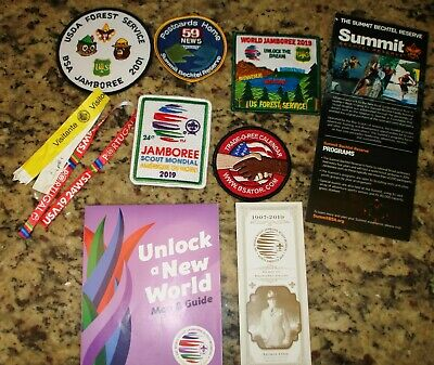 2019 24th SCOUTING WORLD JAMBOREE PATCHES....  10 ITEM SET