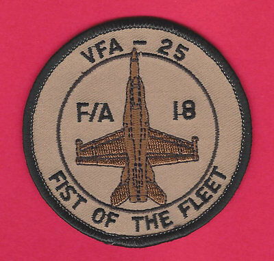 Vfa-25 Fist Of The Fleet Patch Navy Strike Fighter Squadron F/A18 Super Hornet D