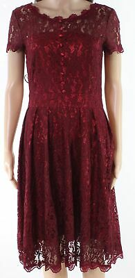 Ihot Fashion NEW Red Womens Size Medium M Floral Lace A-Line Dress $65- 151