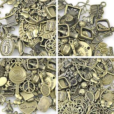 50g vintage antique brass bronze mixs pendant spacer end caps wholesale SC0015