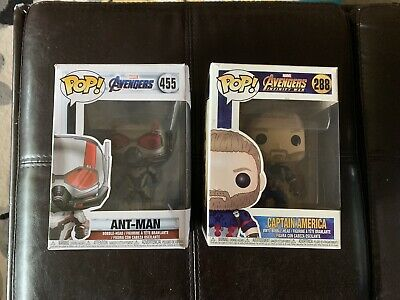 Marvel Avengers Funko Pop Lot Captain America and Antman