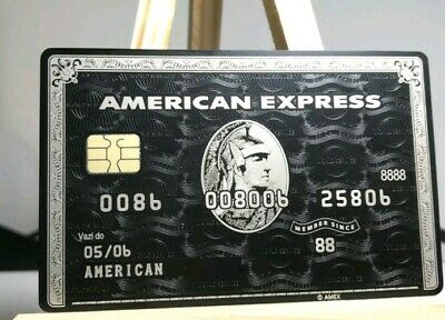 American Express Black Card Centurion Chip no box customiz stainless steal reply