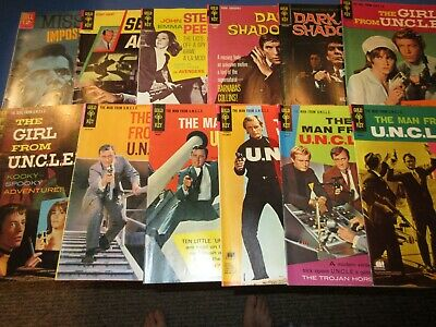 Gold Key/Dell lot of 12 Spy Comics VG- to VGF Silver Age Man From UNCLE