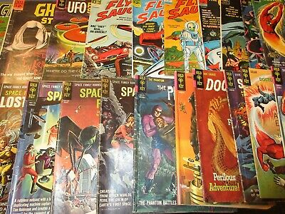 Dell Sci-Fi lot of 22 silver and Bronze comics GVG to VG+ Space Family Robinson