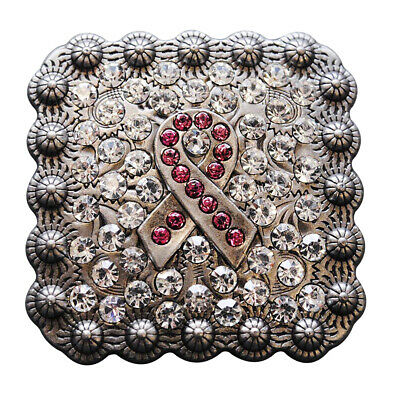 C-Ty08 Set Of 8 Crystals Breast Cancer Conchos Rhinestone Headstall Tack Bling C