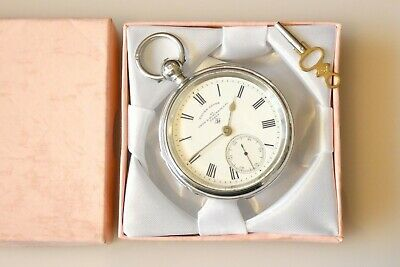 Beautiful Antique Victorian Birmingham Hallmarked Silver Pocket Watch Dated 1899