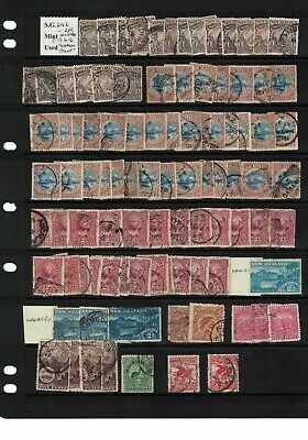 new zealand stamps - pictorials no wmark - perf 12-16 1898> good used - HCV