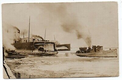 Great Lakes,Swinging Shipwreck #17,Into Dock,Tugs Welcome,Knight Templar,Rppc