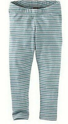 TEA COLLECTION  Striped Leggings  - Stratford Blue - NWT Girls 10