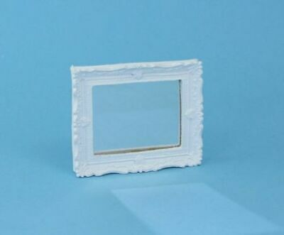 1:12 Dollhouse Miniature Decorative White Shabby Chic Framed Mirror #WCMA111