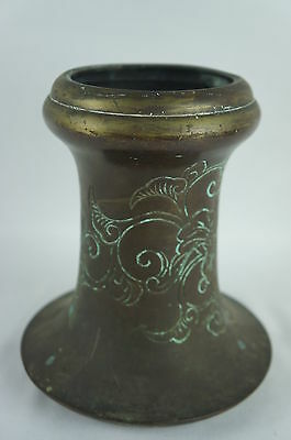 "Superb Antique chinese or japanese bronze vase, patina 7"" ca. 1900"