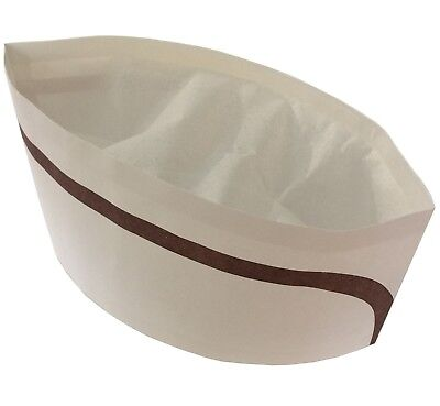 Chefs Hats,Catering Forage Serving Caps,Food Hygiene Disposable Paper.Pack of 20