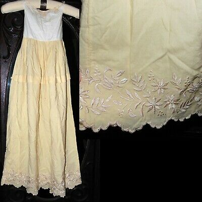 Antique Victorian Edwardian Amazing Embroidered Very Long Baby Christening Dress