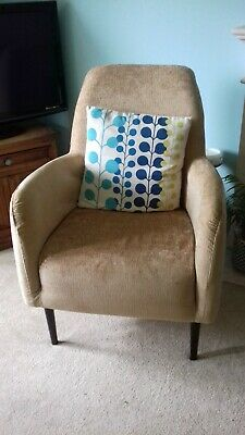 Strange Yellow Accent Armchair Retro Fabric Chair Mid Century Room Gamerscity Chair Design For Home Gamerscityorg