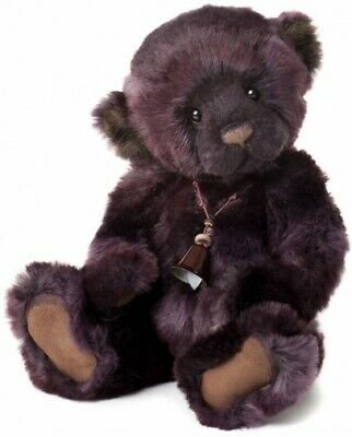 """Charlie Bears Plush Collection Collectable  Demi 2013 13"""" 33cm Name Tag Bell"""