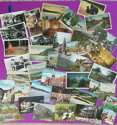 Large 300+ lot Vintage Posted & Unposted Postcards early 1900s-mid 1960s