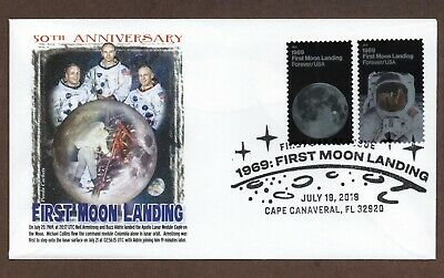 2019 - 50Th Anniversary Moon Landing ~ Panda Cachet First Day Cover