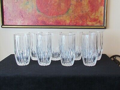 8 Mikasa Crystal Park Lane Highball Tumblers W/ Labels And Tags