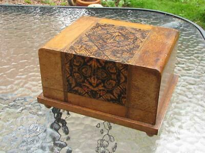 Vintage Sorrento Ware Inlaid Marquetry Musical Music Box  - Buy It Now