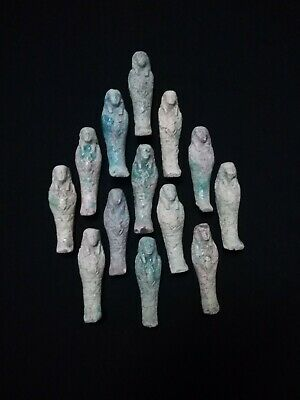 lot of 13 Ancient Egyptian Antiques rare Amulets (1816 BC)
