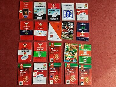 20 x 1990-1992 International Rugby Union Programmes. Wales 5 Nations plus +