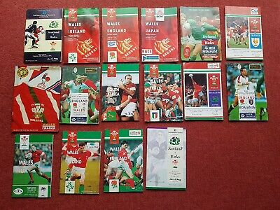 16 x 1993-1994 International Rugby Union Programmes. Wales 5 Nations plus +