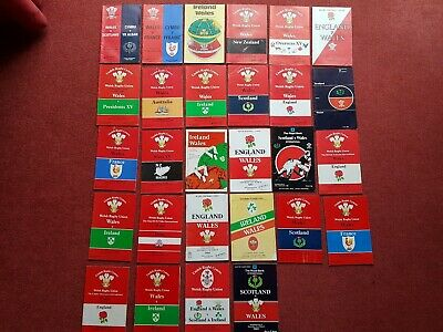 28 x 1980-1985 International Rugby Union Programmes. Wales 5 Nations plus +