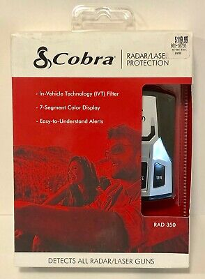 Cobra RAD 350 Radar Laser Detector IVT Filter Brand New in Box **FREE** Shipping