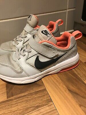 Girls Nike Air Max Trainers Size 1 UK Grey / White / Pink