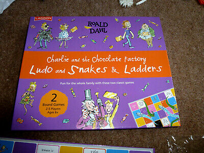 Charlie & The Chocolate Factory Ludo And Snakes And Ladders Game