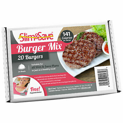 Slim&Save - 20 High Protein Meal Replacement Burger Mix - VLCD Meat Free Burgers