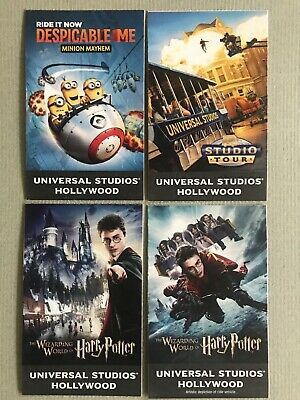 4 Universal Studios Hollywood General Admission passes. Exp. 7-1-20 (value $556)