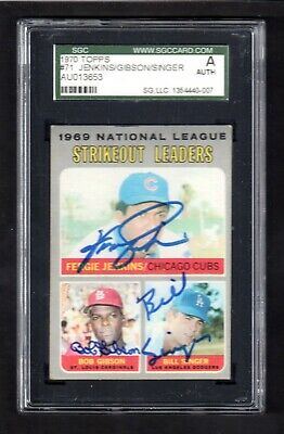 1970 Topps #71 Strikeout Leaders  SIGNED BY ALL 3  AUTOGRAPH CARD  SGC AUTHENTIC