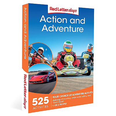 Red Letter Days Action and Adventure Gift Voucher – 525 action-packed gift