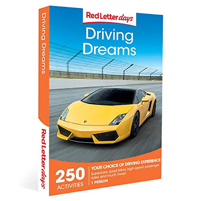 Red Letter Days Driving Dreams Gift Voucher – 250 exhilarating driving