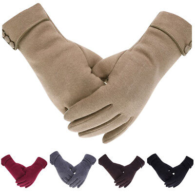 Women Lady Fleece Lined Velvet Thermal Plush Gloves Touch Screen Texting Mittens