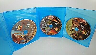 USED Blu-Ray Toy Story 1 ,2 & 3 Trilogy Tom Hanks Tim Allen FREE SHIPPING !!